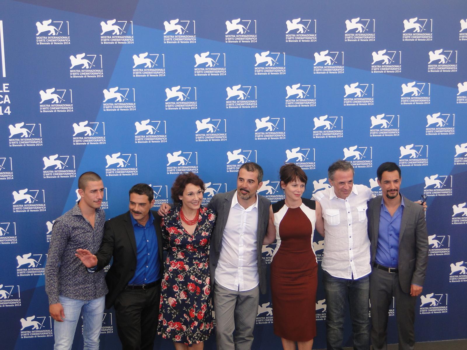 Venezia 2014: uno scatto del cast di Anime nere al photocall