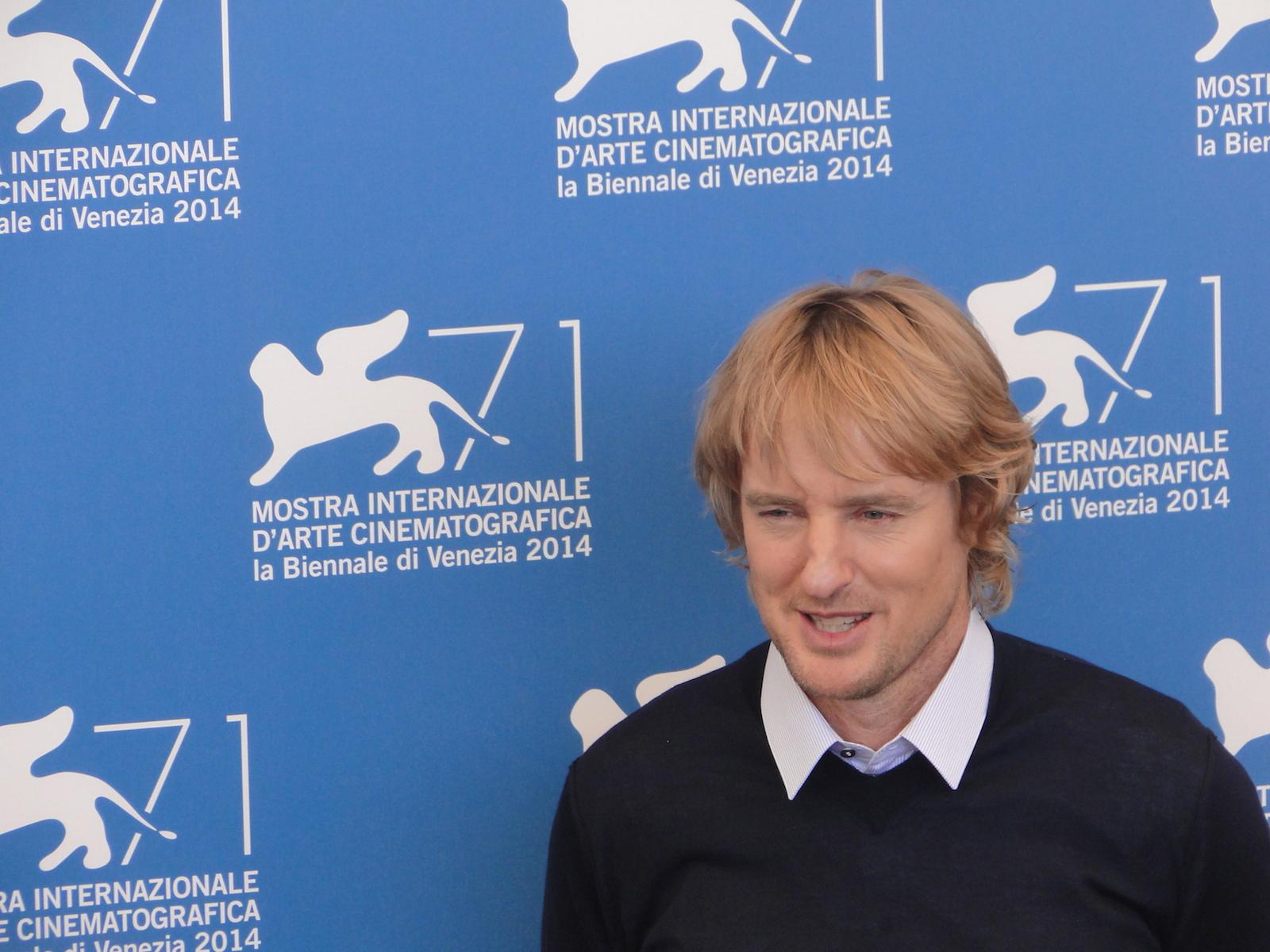 Owen Wilson al photocall di She's Funny That Way a Venezia 2014