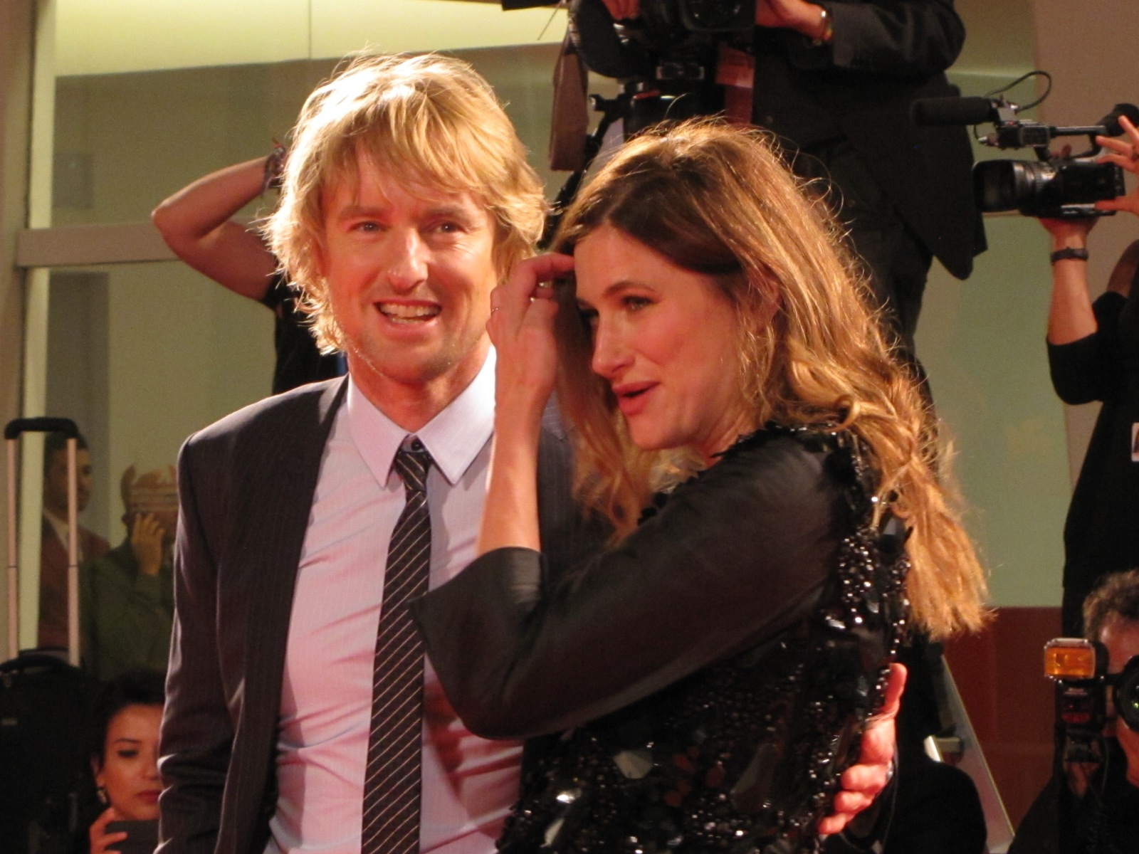 Owen Wilson a Venezia 2014 insieme a Louise Stratten per She's Funny That Way