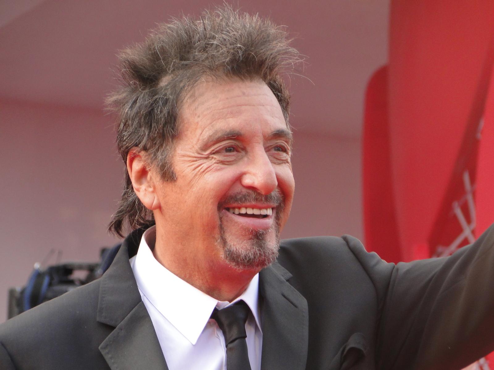 Al Pacino sul tappeto rosso di Venezia 2014 per Manglehorn