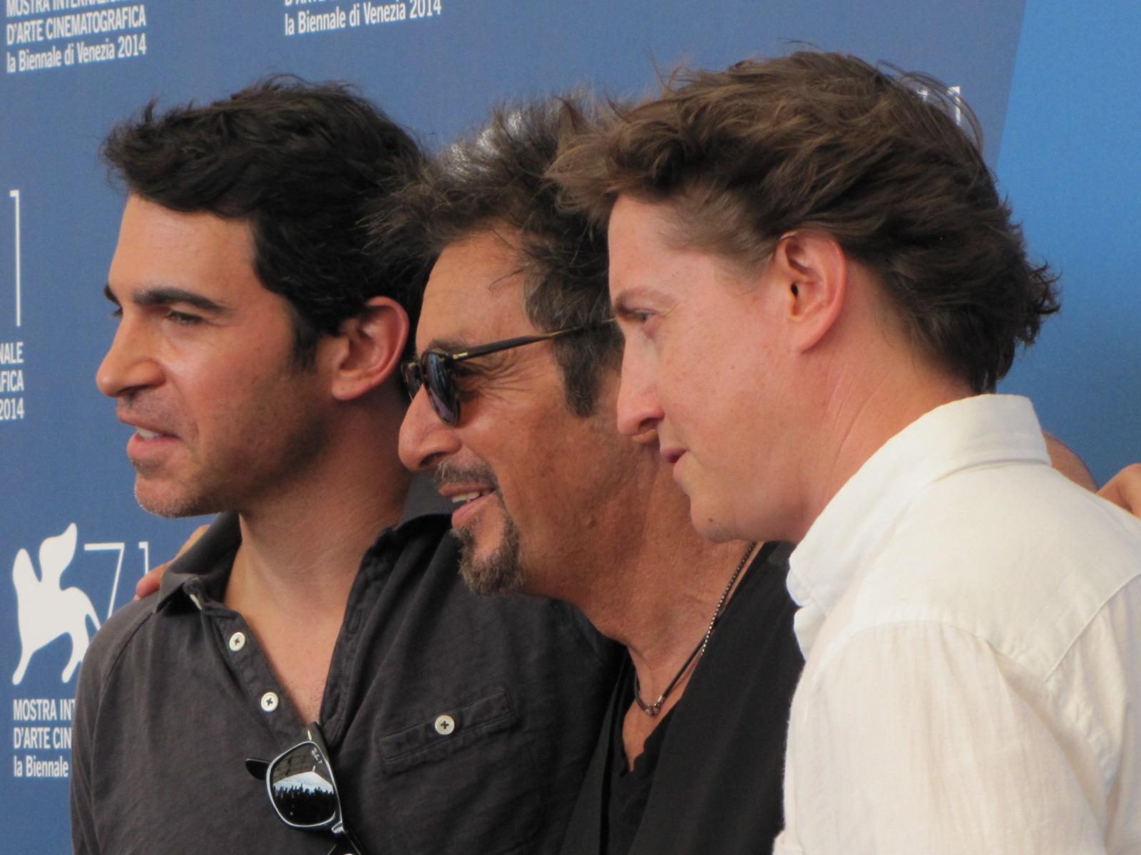 Manglehorn a Venezia 2014 - Pacino con David Gordon Green e Chris Messina