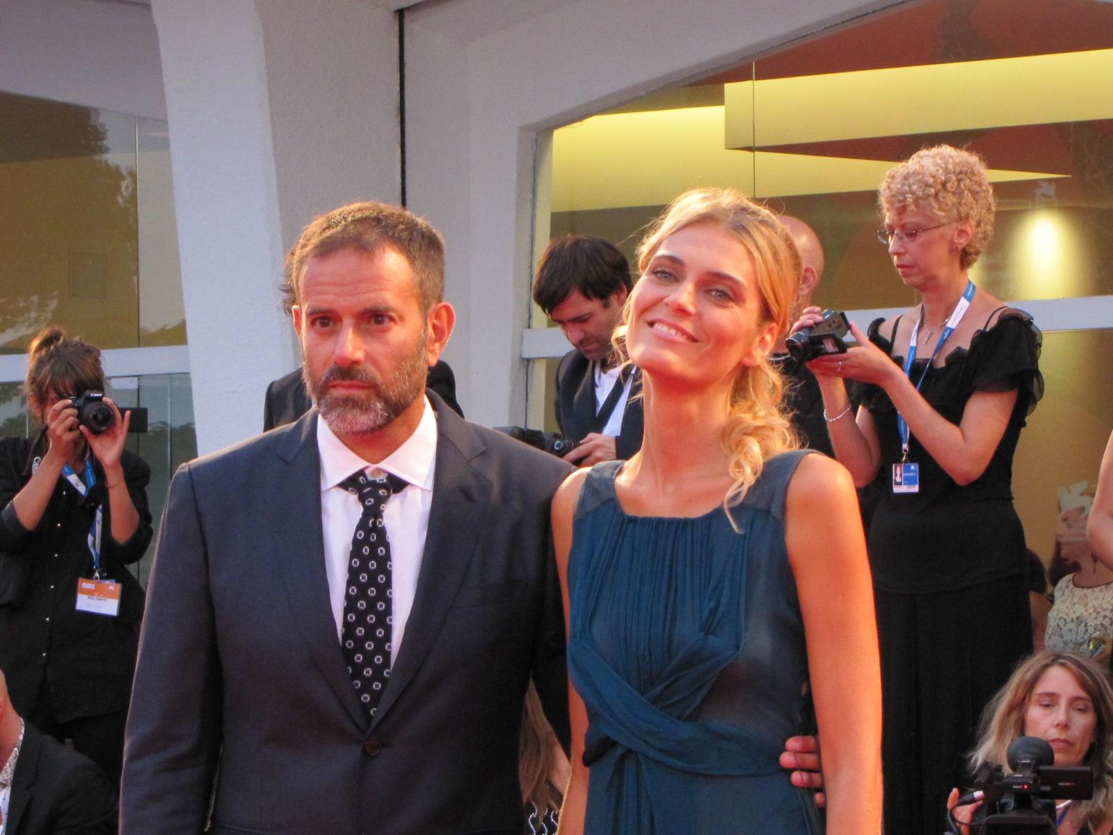 Fausto Brizzi sul tappeto rosso della 71esima Mostra del Cinema di Venezia
