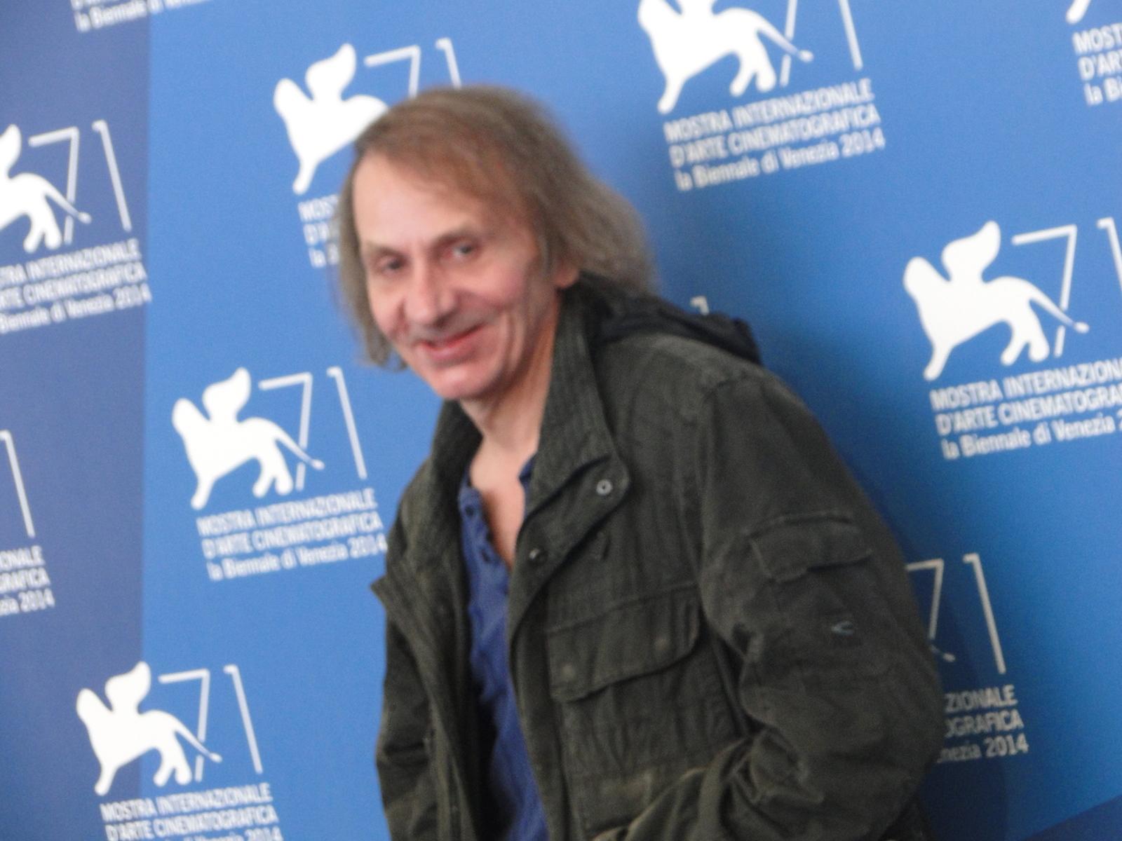 Venezia 2014: il protagonista Michel Houellebecq al photocall di Near Death Experience