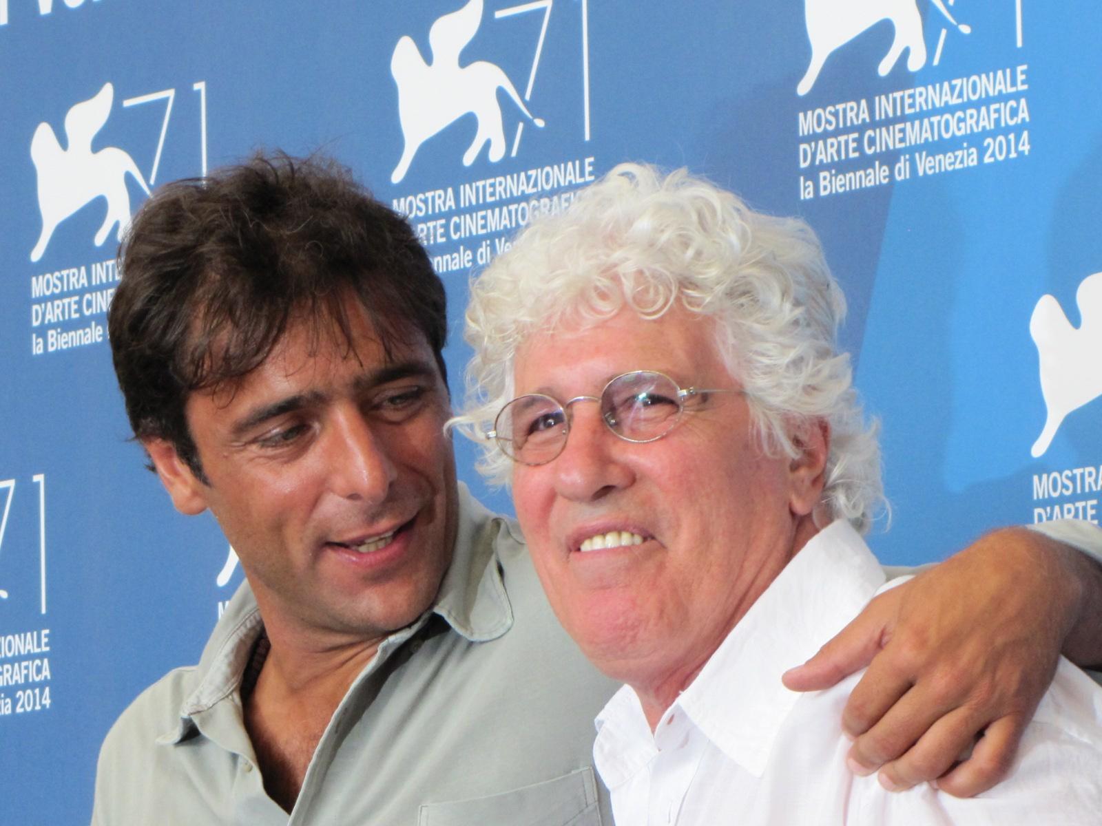 Senza nessuna pietà a Venezia 2014 -  Ninetto Davoli con Adriano Giannini