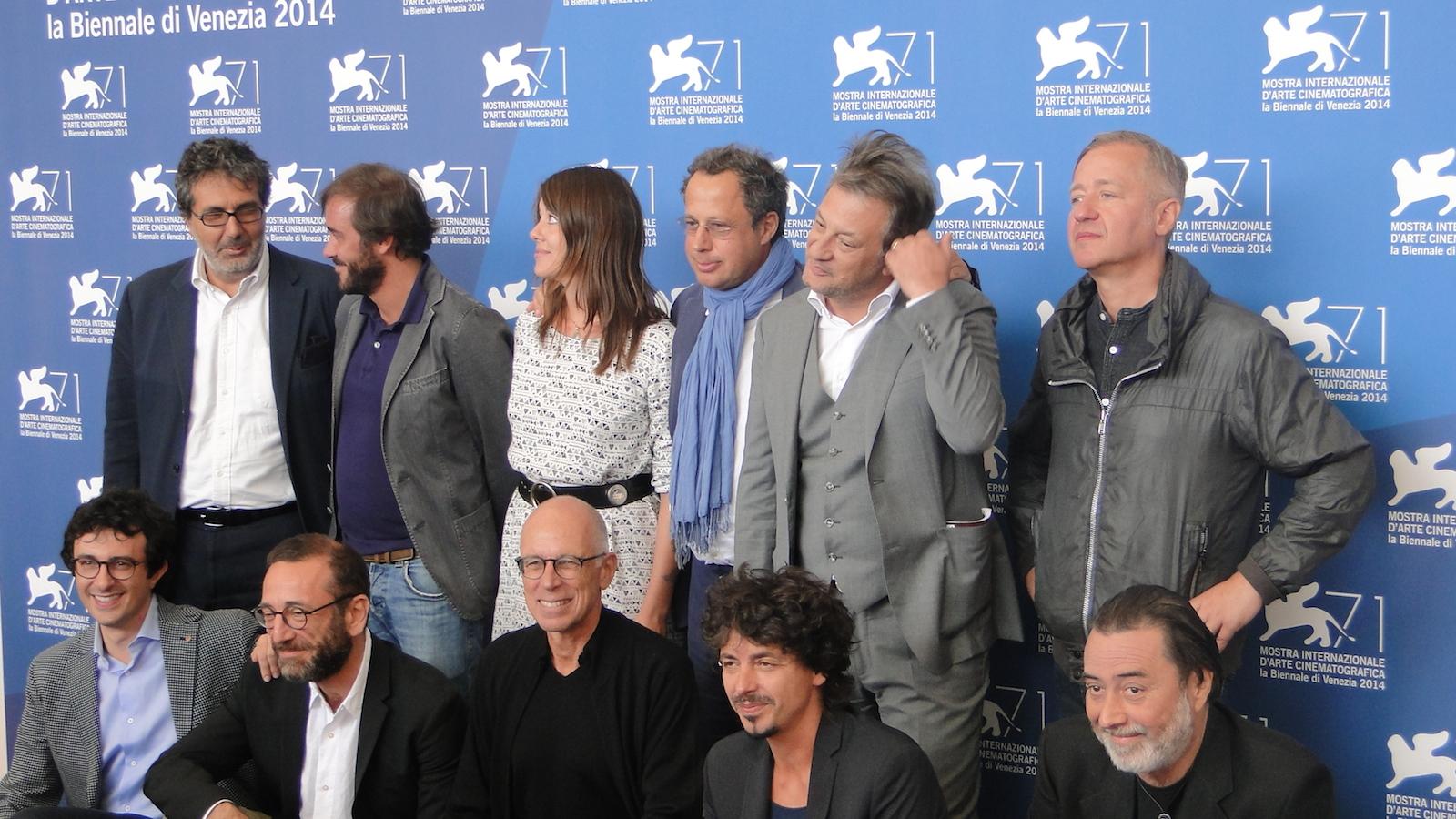 Gabriele Salvatores all'affollato photocall di Italy in a Day a Venezia 2014