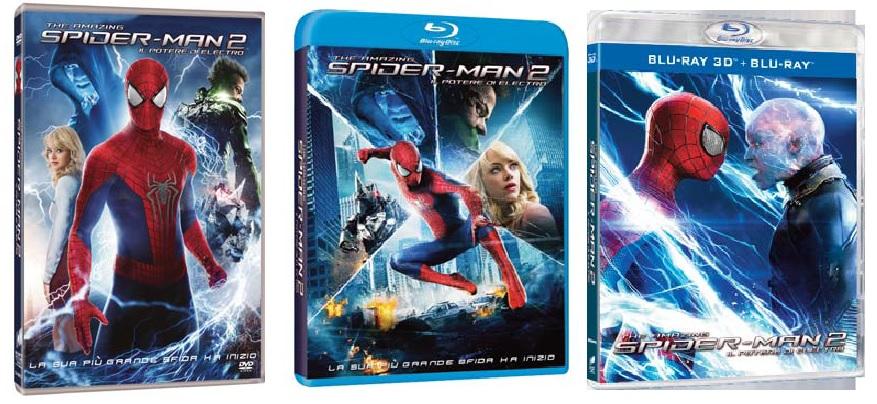 Le cover homevideo di The Amazing Spider-Man 2: Il Potere di Electro