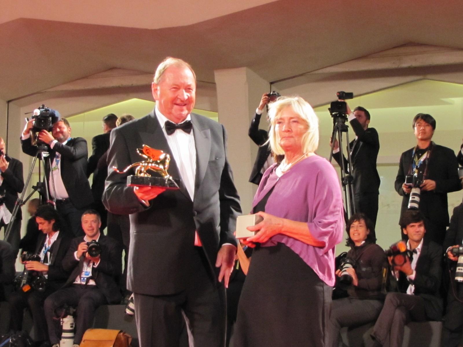 Venezia71, dal red carpet della serata finale, Roy Andersson con il suo Leone d'Oro