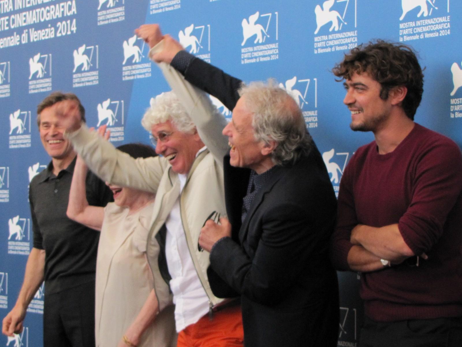 'Pasolini' a Venezia 2014 - Abel Ferrara con il cast della pellicola
