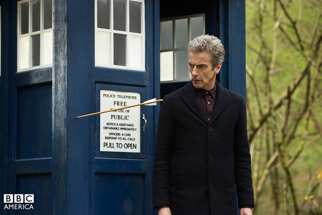 Doctor Who: Peter Capaldi nell'episodio Robot of Sherwood