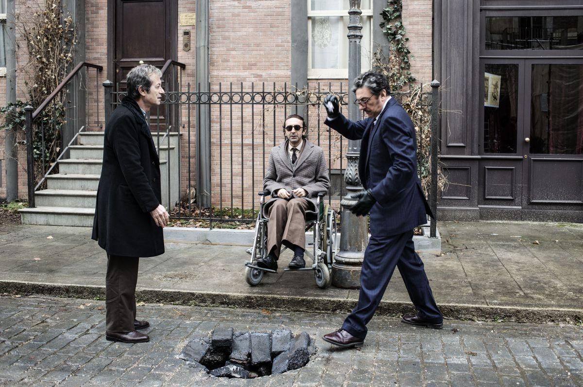 La buca: Sergio Castellitto, Rocco Papaleo e Giovanni Esposito in una scena del film
