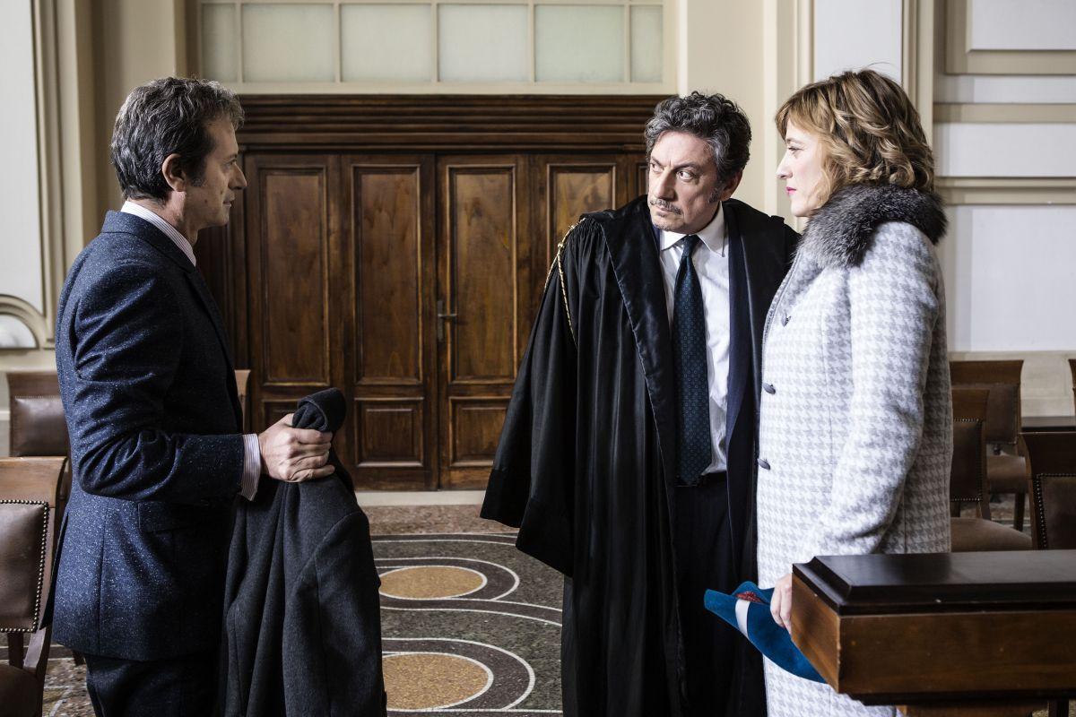 La buca: Sergio Castellitto, Rocco Papaleo e Valeria Bruni Tedeschi in una scena del film