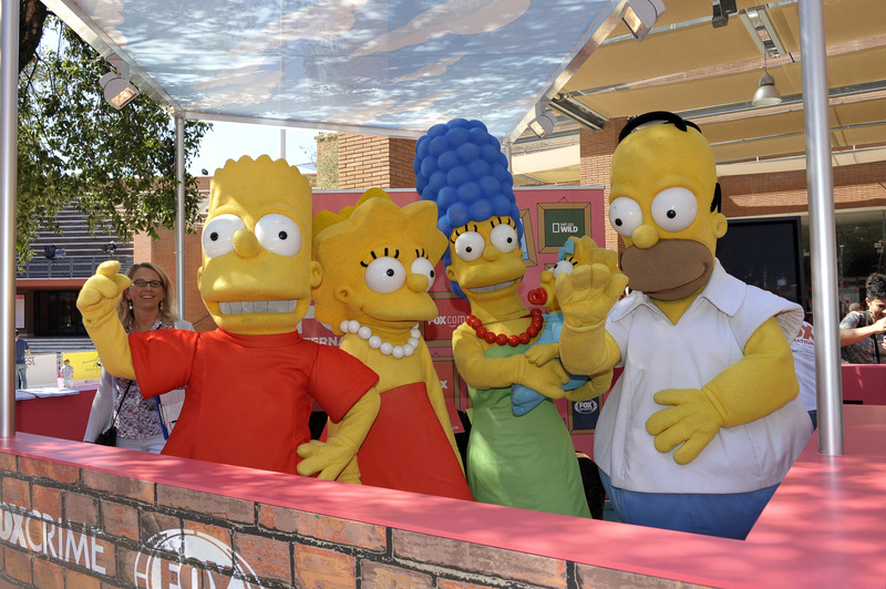 RomaFictionFest 2014: La famiglia Simpson sul Pink Carpet della manifestazione