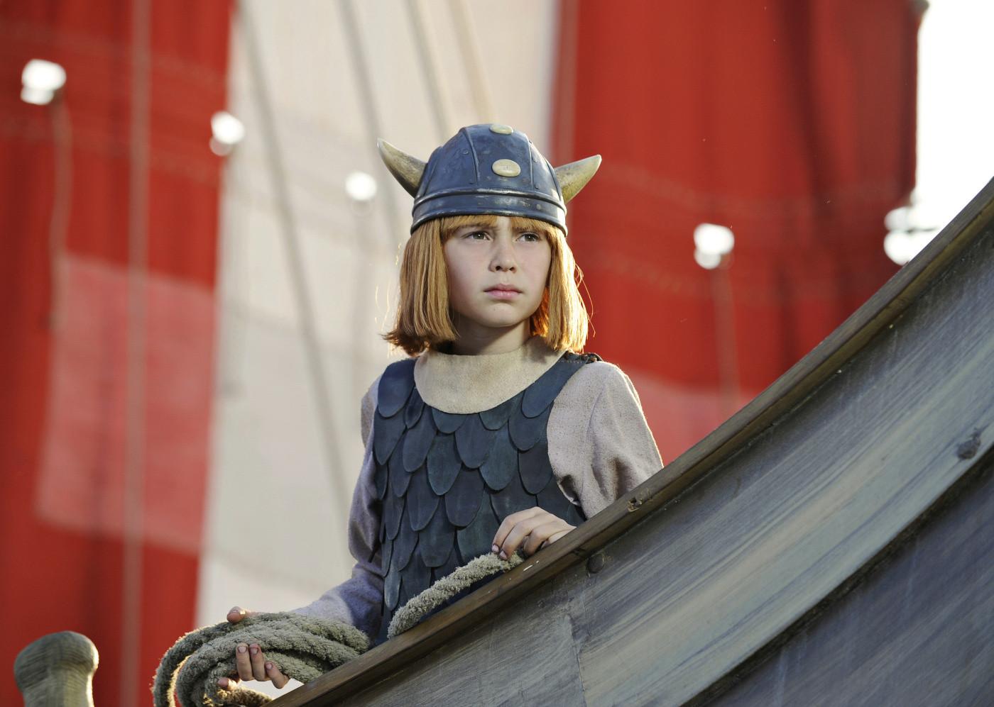 Vicky il Vichingo: Jonas Hämmerle nei panni del piccolo Vicky in una scena