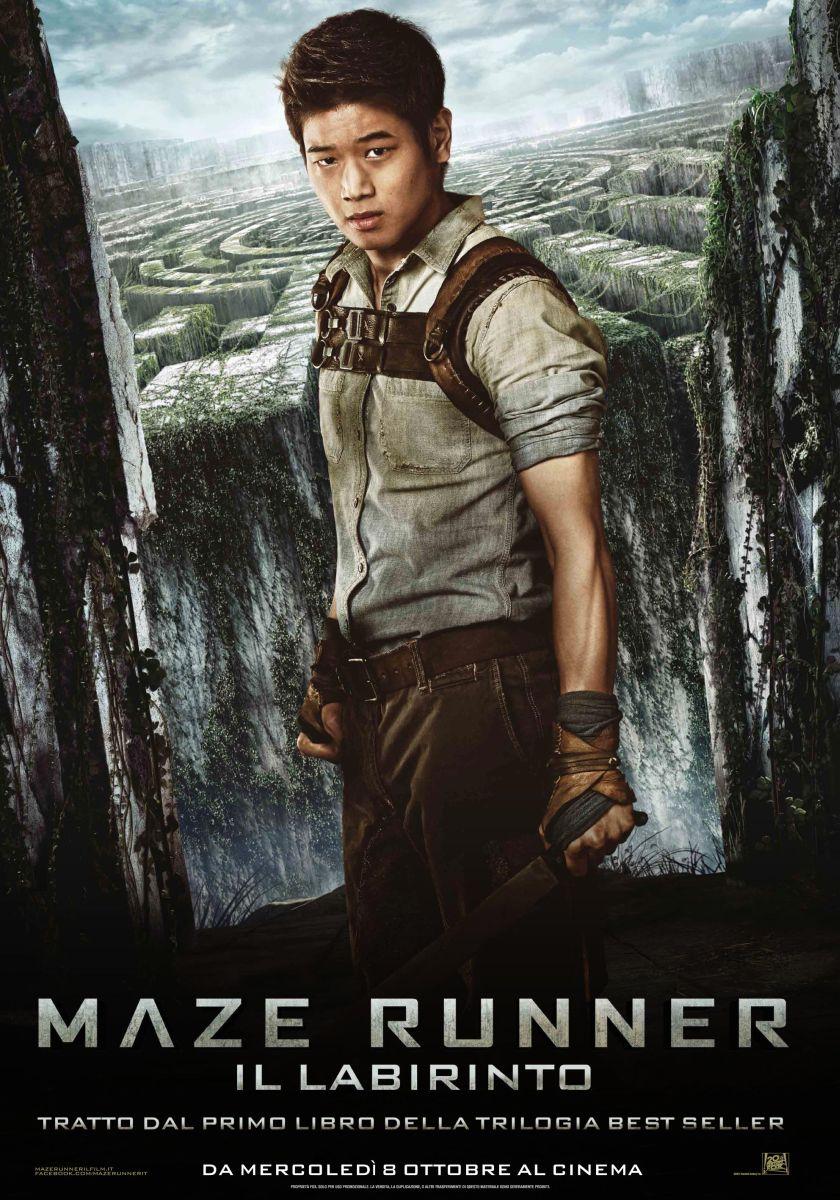 Maze Runner - Il labirinto: il character poster italiano di Minho, interpretato da Ki Hong Lee