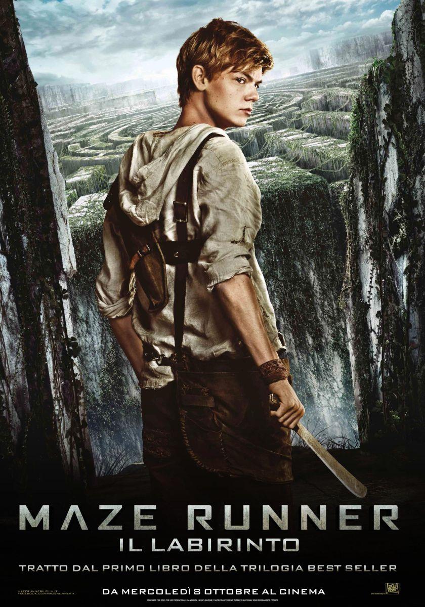 Maze Runner - Il labirinto: il character poster italiano di Newt, interpretato da Thomas Sangster