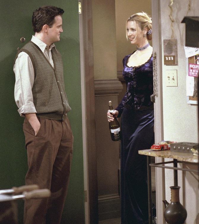 Friends: Matthew Perry e Lisa Kudrow nell'episodio Io so che tu sai che io lo so