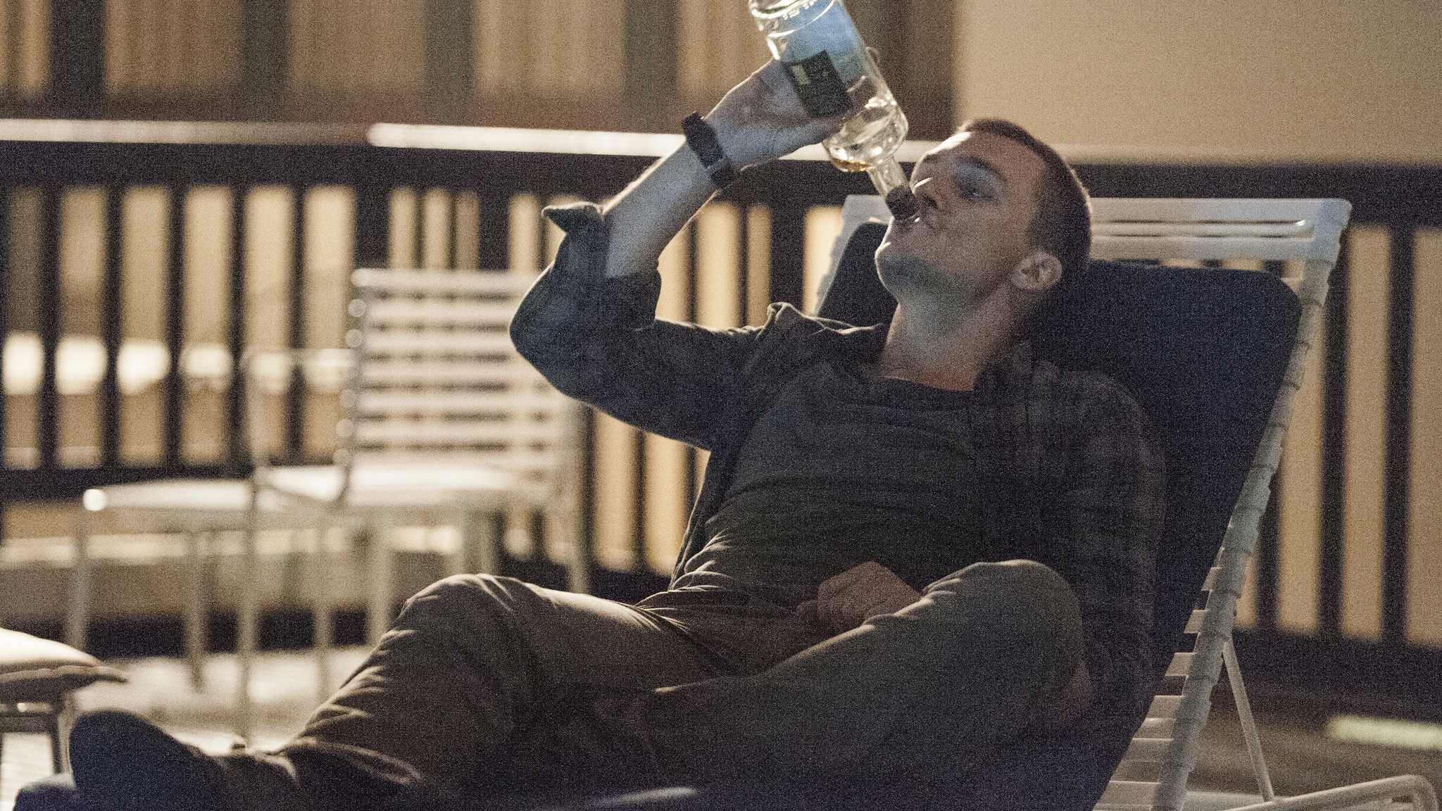 Homeland: Rupert Friend in una scena dell'episodio Trylon and Perisphere