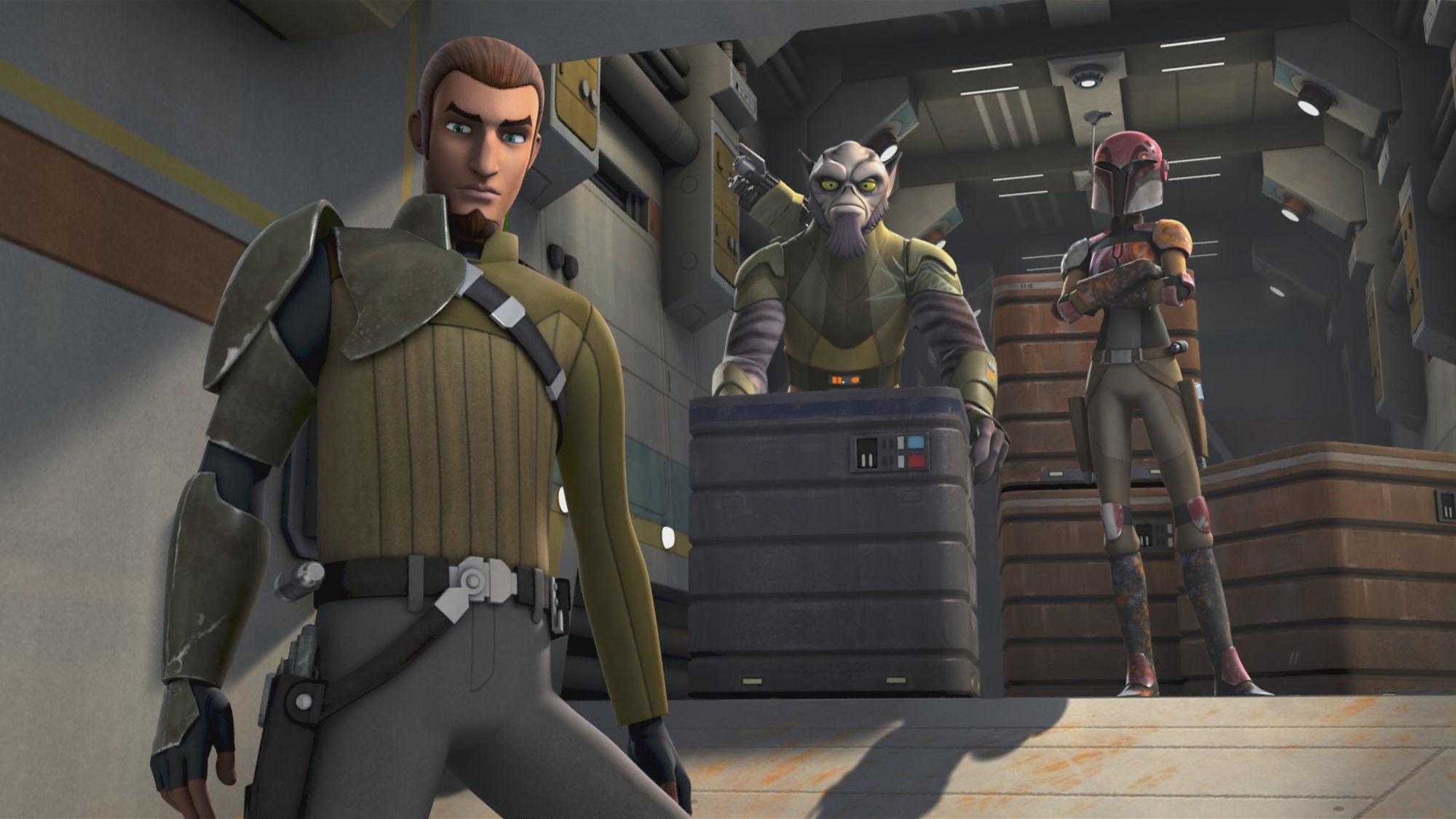 Star Wars Rebels: una sequenza della premiere