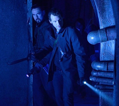 The Strain: Kevin Durand e Corey Stoll nell'episodio The Third Rail