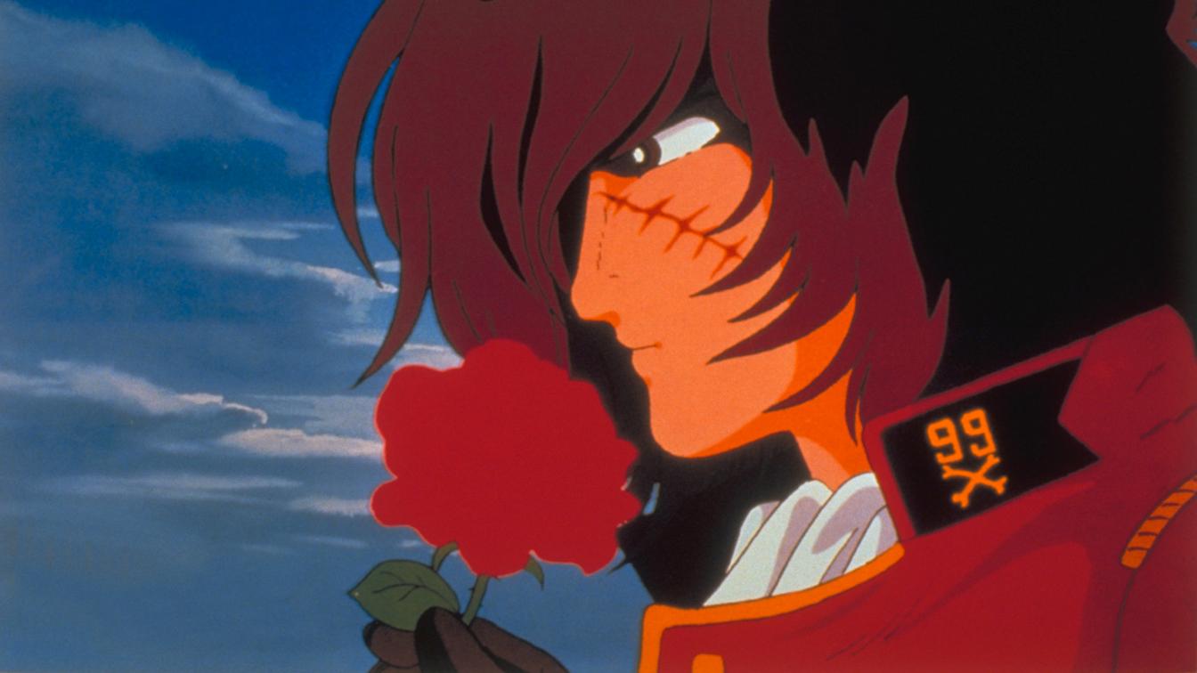 Capitan Harlock - L'Arcadia della mia giovinezza: Capitan Harlock in una romantica immagine del film