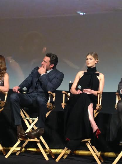 Gone Girl - Ben Affleck e Rosamund Pike  alla conferenza stampa del film al NYFF 2014