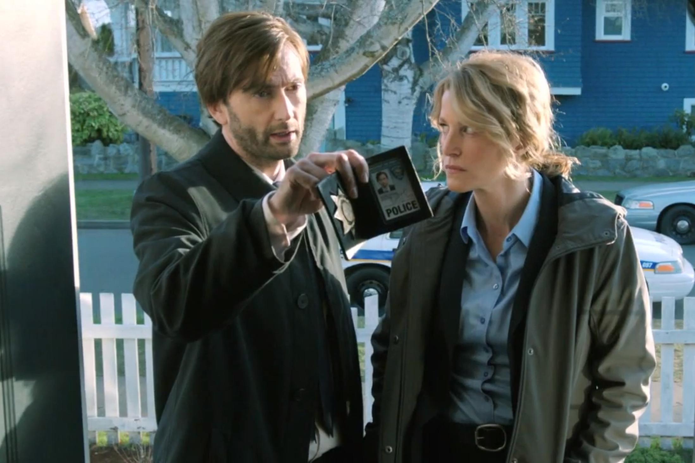 Gracepoint: una scena con Anna Gunn e David Tennant