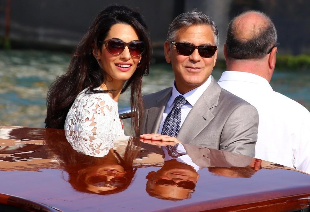 George Clooney subito dopo le nozze con Amal Alamuddin