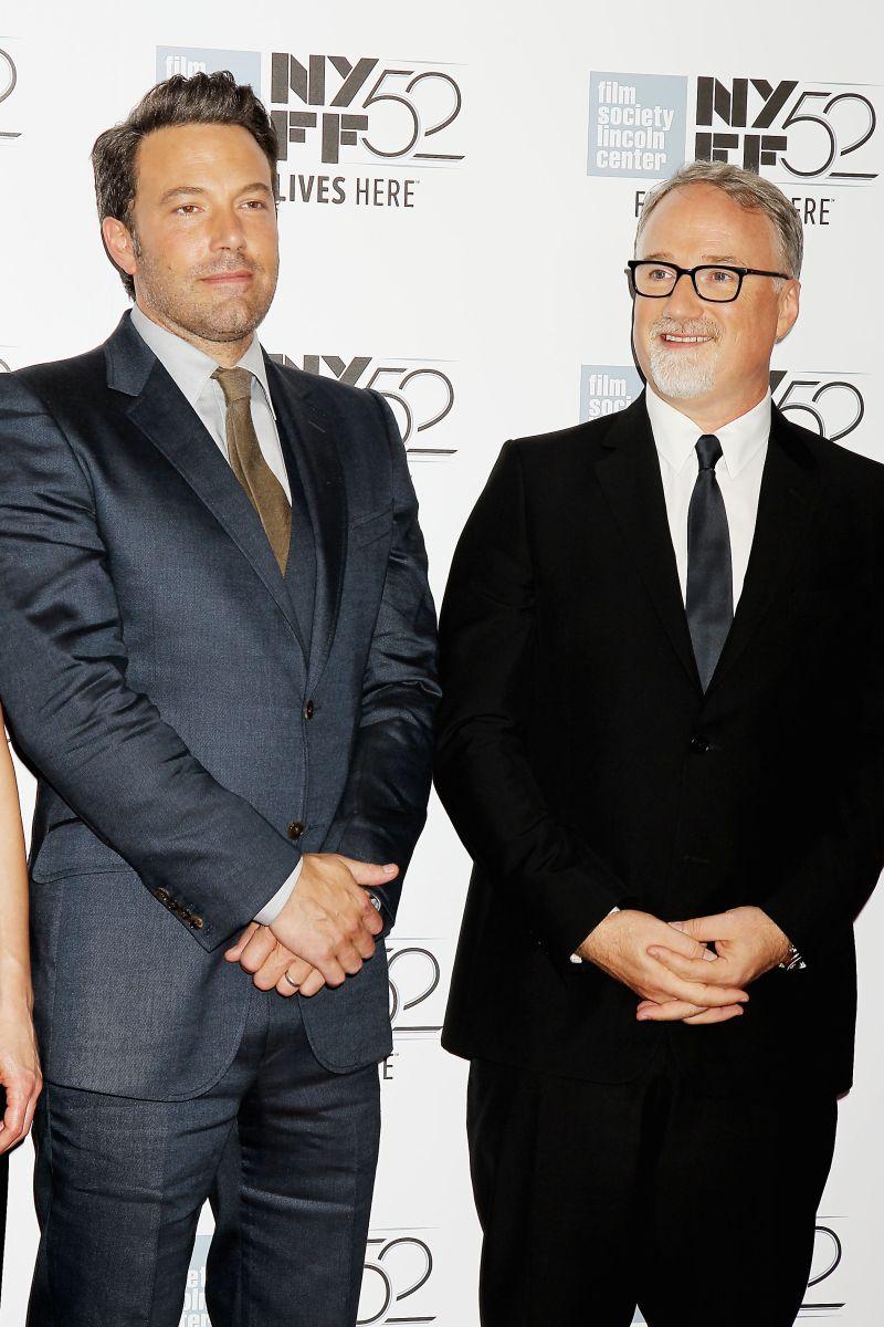 L'amore bugiardo - Gone Girl: Ben Affleck con David Fincher sul red carpet del 52° NYFF