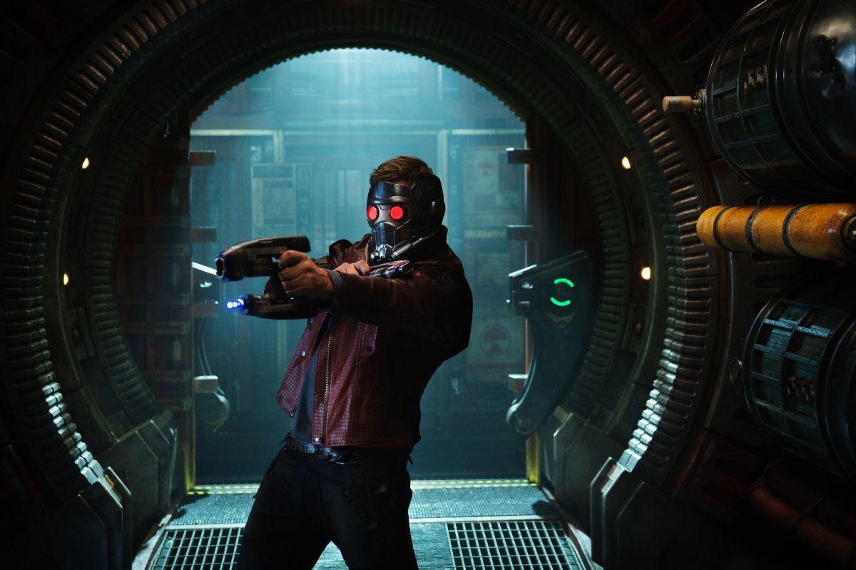 Guardiani della Galassia: Chris Pratt in azione in una scena del film