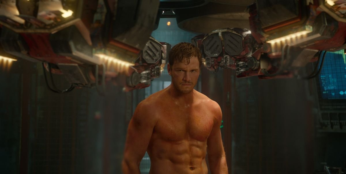 Guardians of the Galaxy: Chris Pratt a torso nudo