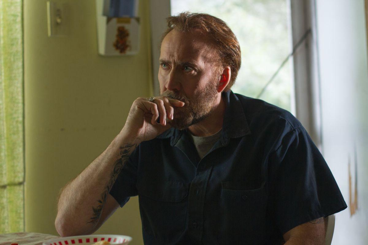 Nicolas Cage in una scena del film diretto da David Gordon Green