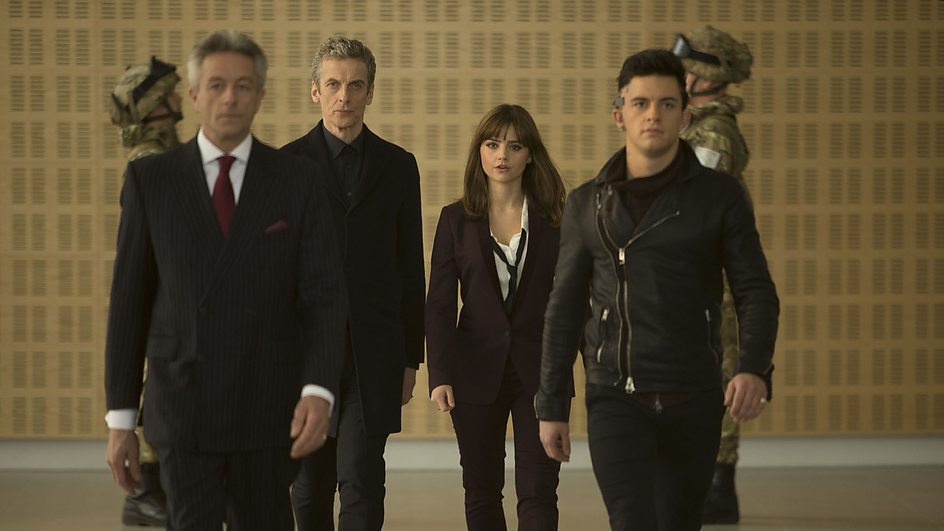Doctor Who: Peter Capaldi e Jenna-Louise Coleman nell'episodio Time Heist