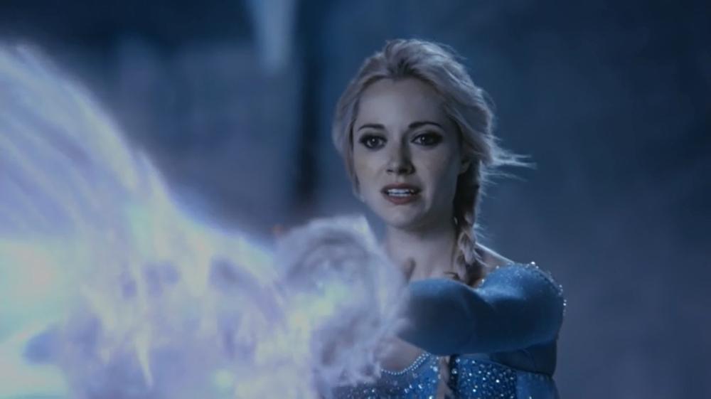 C'era una volta: Georgina Haig interpreta Elsa in una scena dell'episodio White Out
