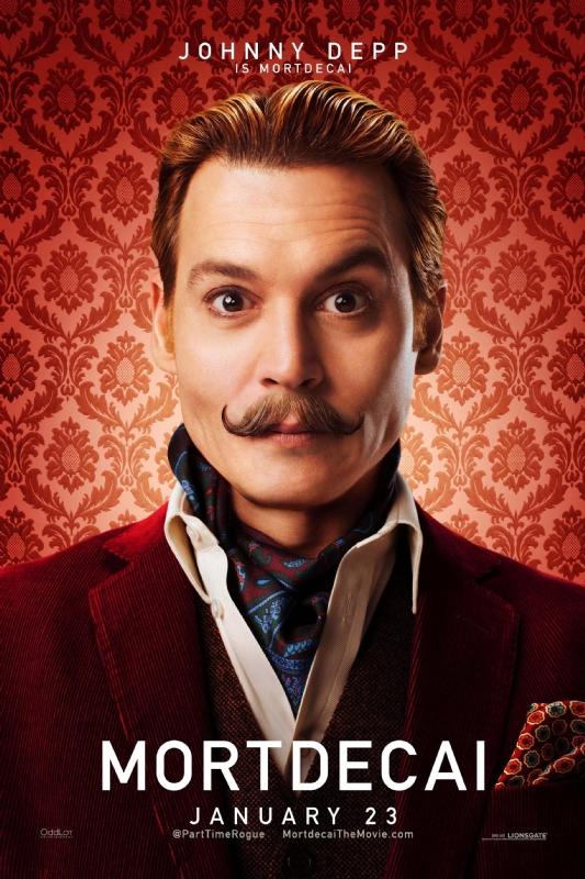 Mortdecai: il character poster di Johnny Depp