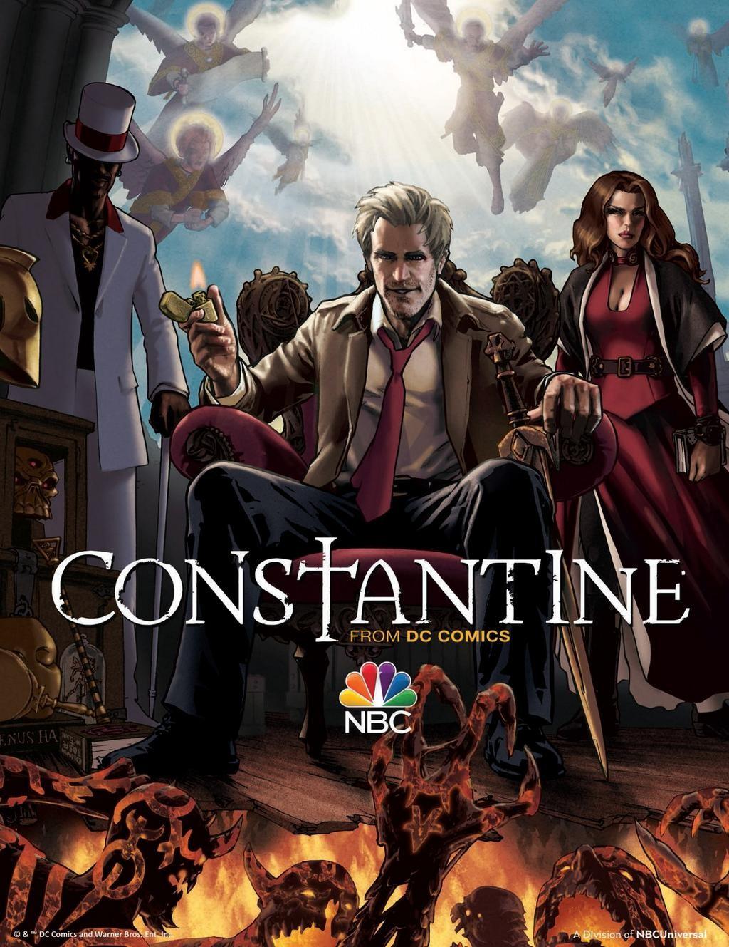 Constantine: una versione disegnata del poster della serie