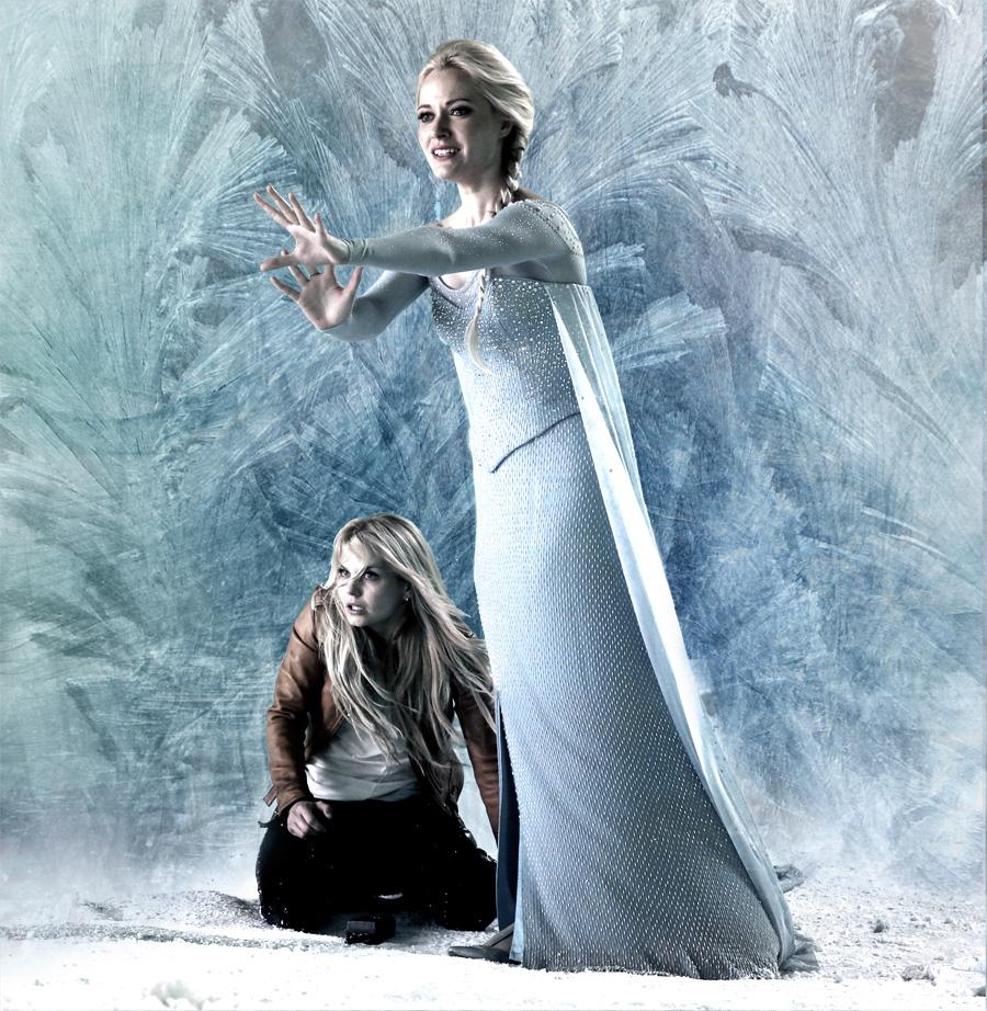 C'era una volta: Jennifer Morrison e Georgina Haig in una foto promozionale dell'episodio White Out