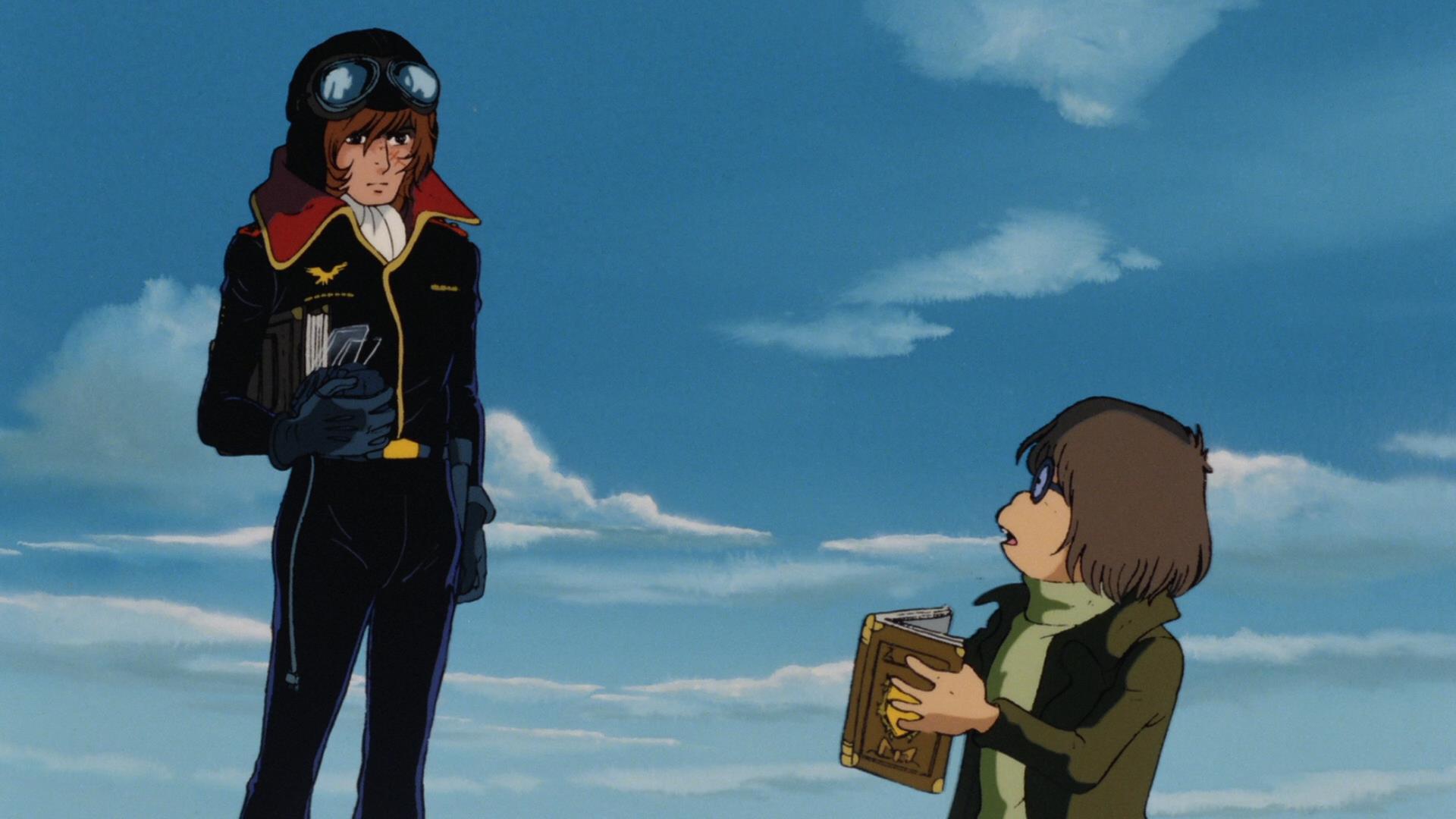 Capitan Harlock con Tochiro Oyama in una scena di Capitan Harlock - L'Arcadia della mia giovinezza