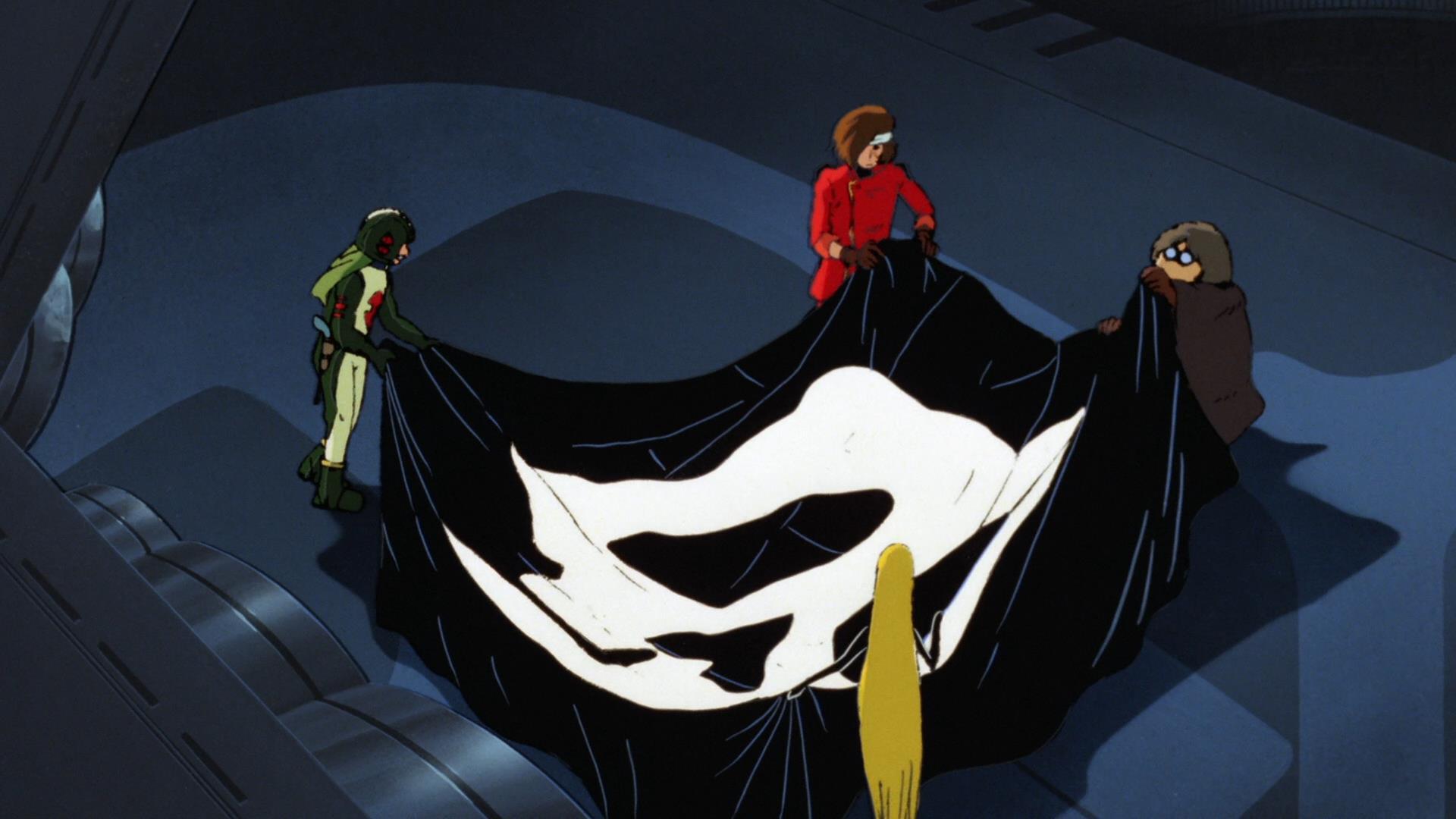 Una scena del film animato dl 1982 Capitan Harlock - L'Arcadia della mia giovinezza