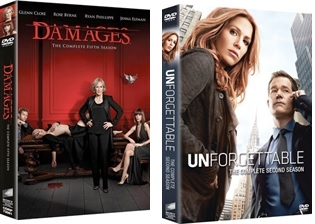 Le cover homevideo di Damages e Unforgettable