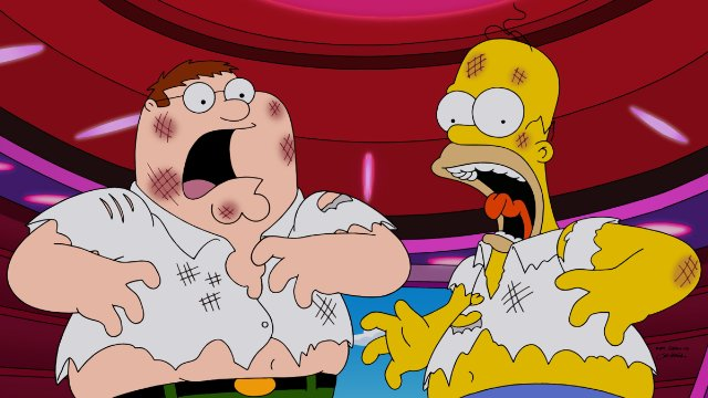 The Simpsons Guy: una scena dal crossover Simpson/Griffin