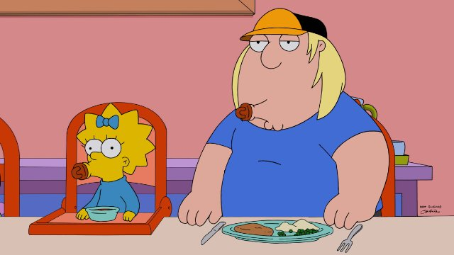 The Simpsons Guy: un'immagine dal crossover Simpson/Griffin