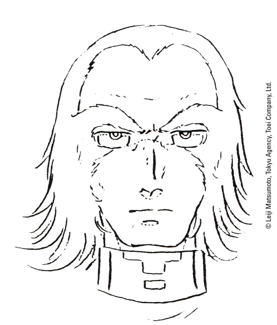 Capitan Harlock - L'Arcadia della mia Giovinezza: bozzetto preparatorio 5