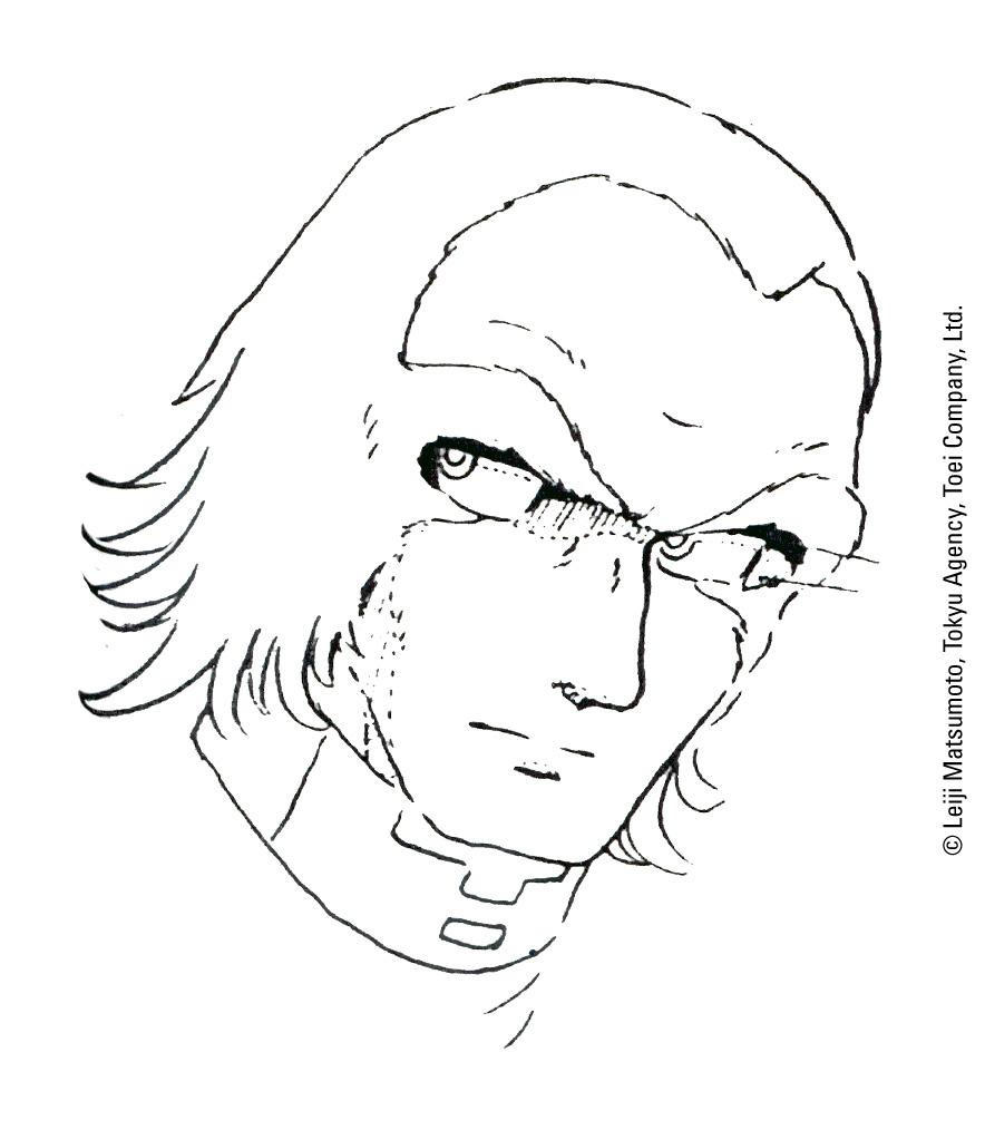 Capitan Harlock - L'Arcadia della mia Giovinezza: bozzetto preparatorio 4