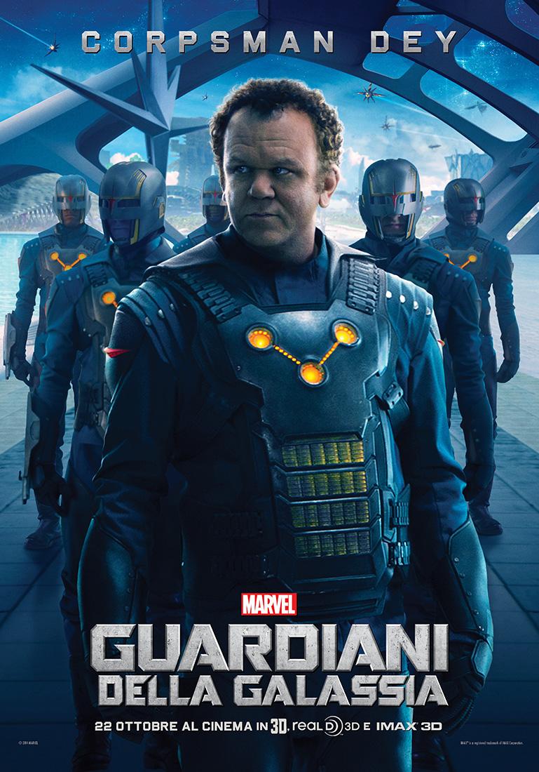 Guardiani della Galassia: il character poster italiano di Rhomann Dey (John C. Reilly)
