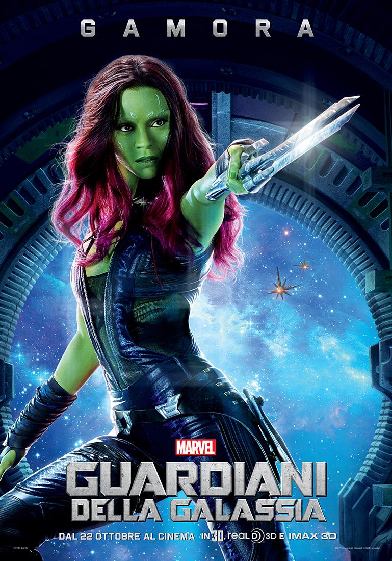 Guardiani della Galassia: il nuovo character poster italiano di Gamora (Zoe Saldana)