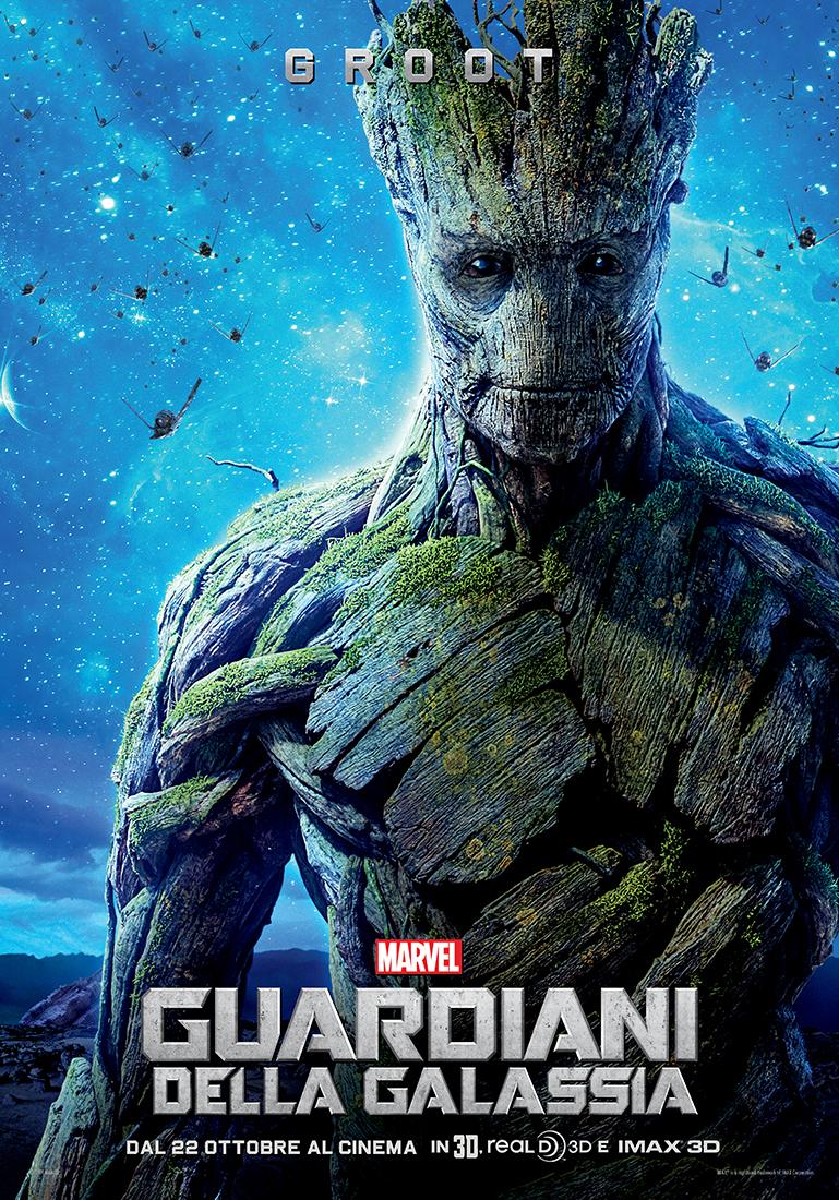 Guardiani della Galassia: il character poster italiano di Groot