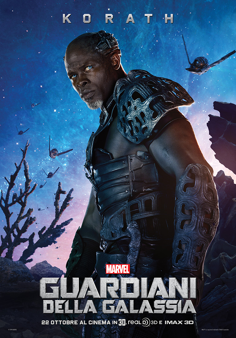 Guardiani della Galassia: il character poster italiano di Korath (Djimon Hounsou)