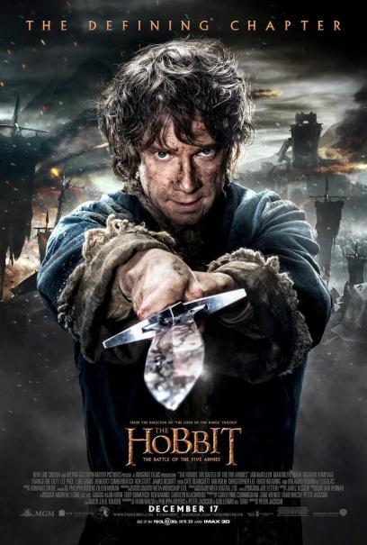 Lo Hobbit: La Battaglia delle Cinque Armate - Bilbo sguaina la spada in un character poster