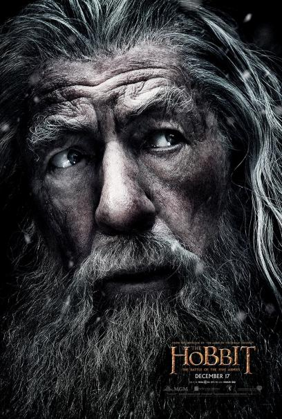 Lo Hobbit: La Battaglia delle Cinque Armate - Un character poster dedicato a Gandalf
