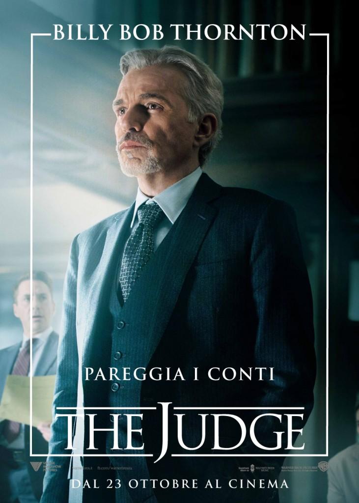 The Judge: il character poster italiano di Billy Bob Thornton